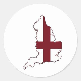 England Flag Map Sticker