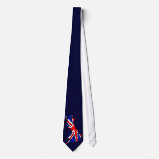 England Flag Map Tie
