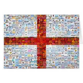 England Flag Montage Card