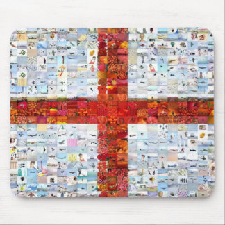 England Flag Montage Mouse Pad