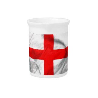 England Flag Beverage Pitcher