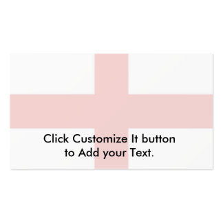 England, Flag ribbons Double-Sided Standard Business Cards (Pack Of 100)