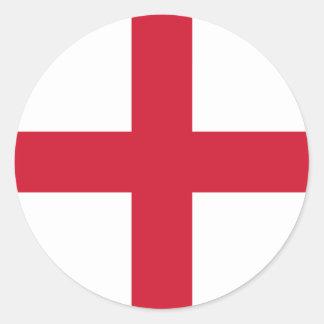 England Flag Round Stickers