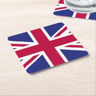 England Flag Square Paper Coaster
