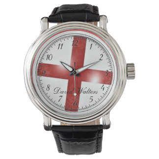 England Flag,St Georges Cross Wrist Watches