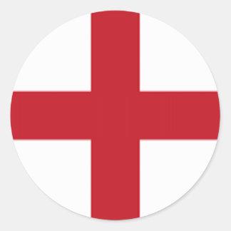 England Flag Round Sticker