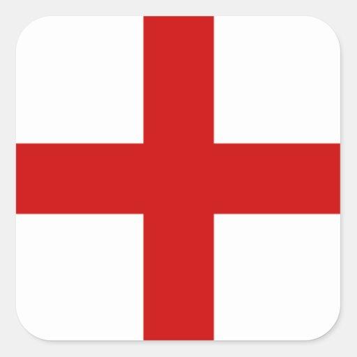 England Flag Square Sticker