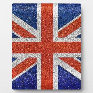 England Flag Vivid Grunge Style Display Plaque