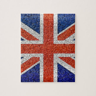 England Flag Vivid Grunge Style Puzzles