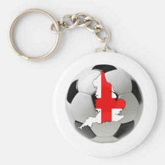 England football basic round button keychain