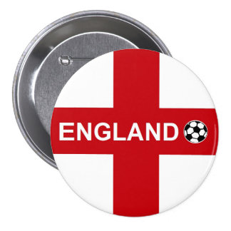 England Football 3 Inch Round Button