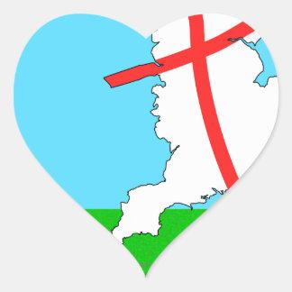 England Football England Kicks For Goal! Heart Sticker