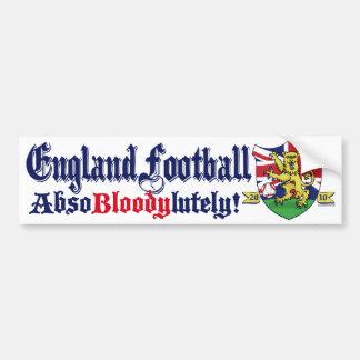 England Football King Lion by Mudge Studios Car Bumper Sticker