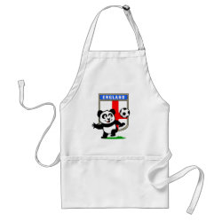 Apron with England Football Panda design