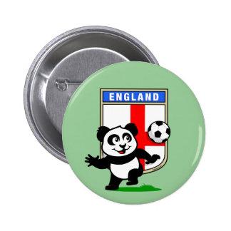 England Football Panda 2 Inch Round Button