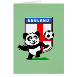 Greeting Card with England Football Panda design