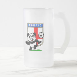 England Football Panda Frosted Glass Mug