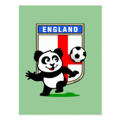 Postcard with England Football Panda design