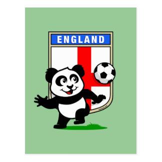 England Football Panda Postcard