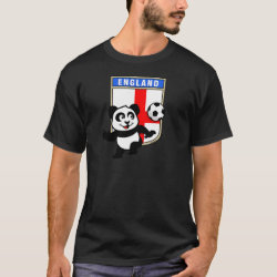 England Football Panda Men's Basic Dark T-Shirt