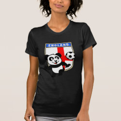 England Football Panda Women's American Apparel Fine Jersey Short Sleeve T-Shirt