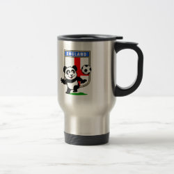 Travel / Commuter Mug with England Football Panda design