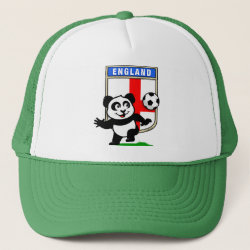 Trucker Hat with England Football Panda design