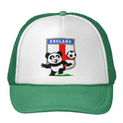 England Football Panda Trucker Hat