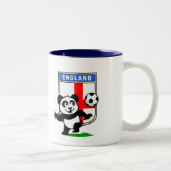 Two-Tone Mug with England Football Panda design