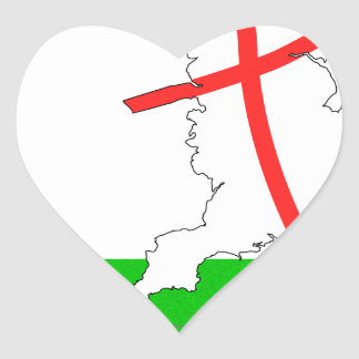 ENGLAND Football Team White Background Heart Sticker
