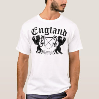 England for King and Country two Lions Coat O Arms T-Shirt