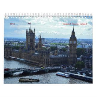 England, France, Ireland  2016 Calendar