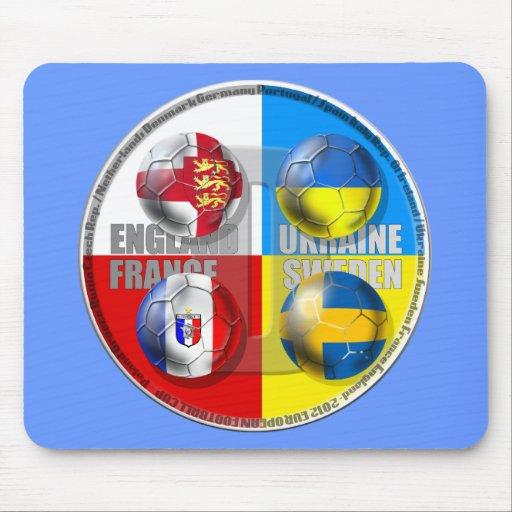 England France Sweden Ukraine Football Flag 2012 Mouse Pads