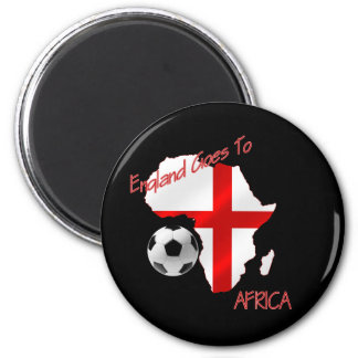 England Goes to Africa St Georges Football flag 2 Inch Round Magnet