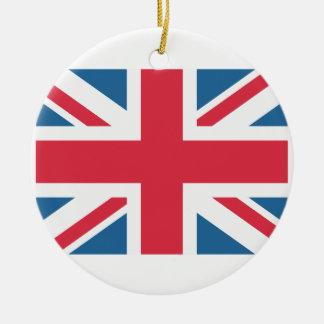 England - Great Britain flag from Twitter emojis Adorno Navideño Redondo De Cerámica