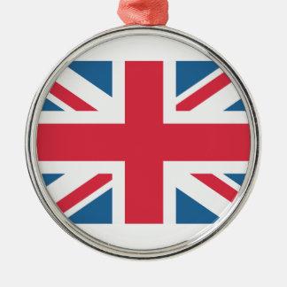 England - Great Britain flag from Twitter emojis Adorno Navideño Redondo De Metal