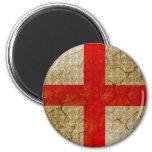 England Grunge Flag Fridge Magnet