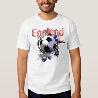 England Grunge football gifts for three lions fans T-shirt