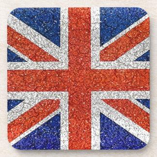 England Grunge Style Flag Drink Coaster