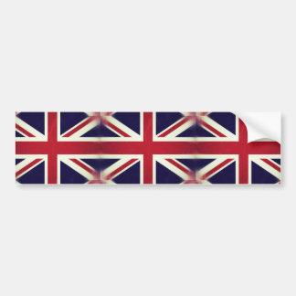 England Grunged Flag Bumper Sticker