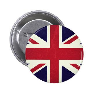 England Grunged Flag Button