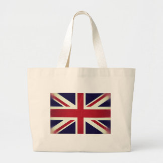 England Grunged Flag Large Tote Bag