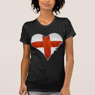 England Heart Flag T Shirts