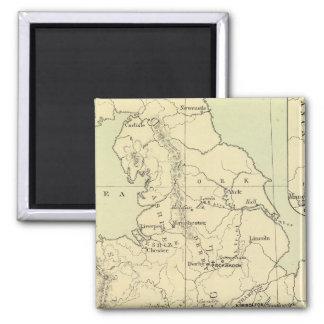 England, Ireland 2 Inch Square Magnet