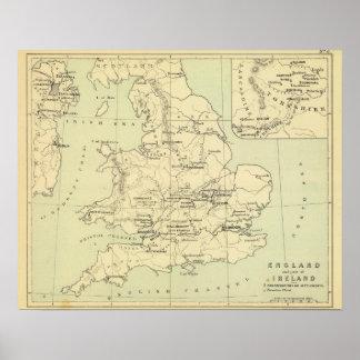 England, Ireland Poster