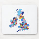 England, Ireland, Scotland and Wales Mouse Pad