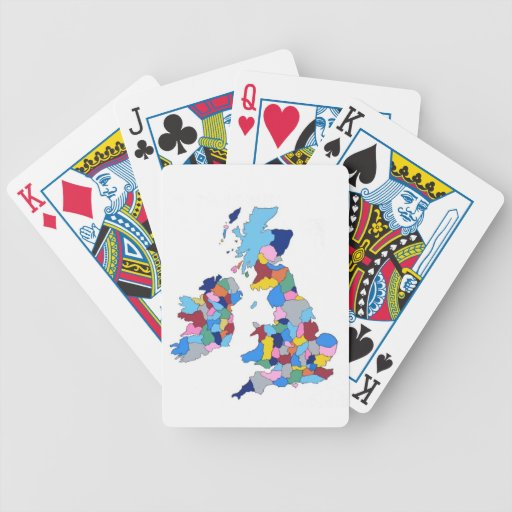 England, Ireland, Scotland and Wales Bicycle Playing Cards