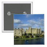 England, Kent, Leeds Castle 2 Inch Square Button