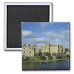 England, Kent, Leeds Castle 2 Inch Square Magnet