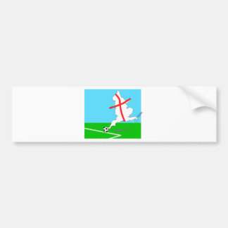 England Kicks For Goal! Fun England Merchandise Bumper Sticker